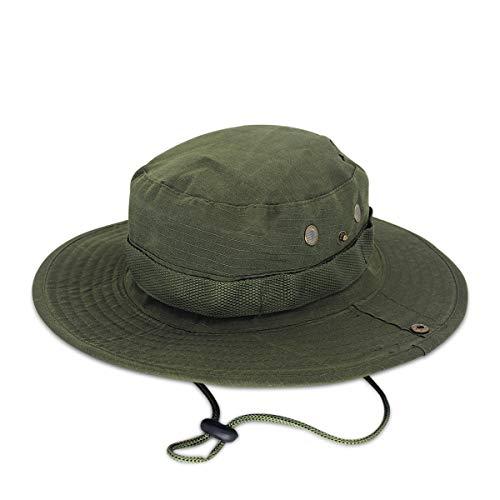 DORRISO Sombrero de Sol Hombres Mujer Gorra de Sol Anti-UV Vacaciones Viaje Playa Gorro de Pesca, Talla única Unisexo Sombrero 🔥