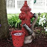 Ark Dcor- Backyard Water Fountains Outdoor - Red Polystone Metal with Pump - Bring Charm to Your Garden Or Veranda with This Eye-Catching Fountain