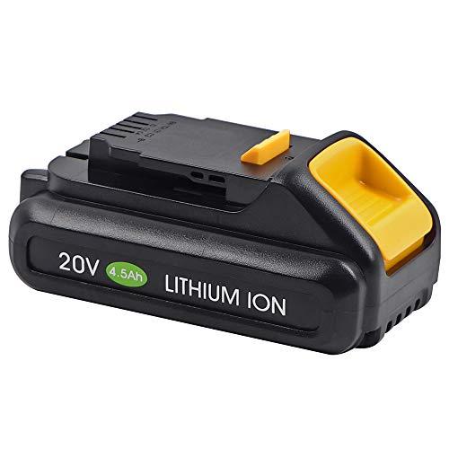 Jialitt 20V 4.5Ah Replacement Battery for Dewalt 20V Cordless Power Tool Max Lithium Battery DCB200 DCB204 DCB205 DCB203 DCB206 DCB180 DCD771C2 DCS355D1 DCD790B