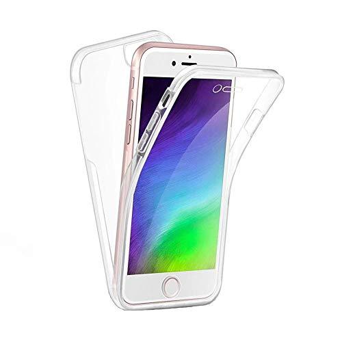 hongping 360 Grados Funda Compatible con iPhone 12 Mini, Ultra-Fina Silicona Carcasa Integral Trasera & Delantera Case Completa, Full Cover con Protectora Pantalla Delgado Cubierta Telefono