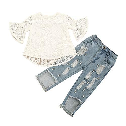 YCYU Conjunto de ropa para recién nacido, de manga larga, de encaje,...