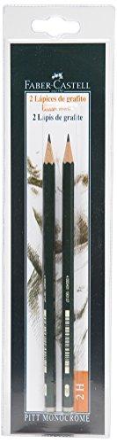 Faber-Castell B-9000-2H-2 - Blíster con 2 lápices de grafito Castell 9000, graduación 2H