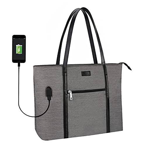 Laptop Tote Bag, Large Women Work Bag Purse USB Teacher Bag...