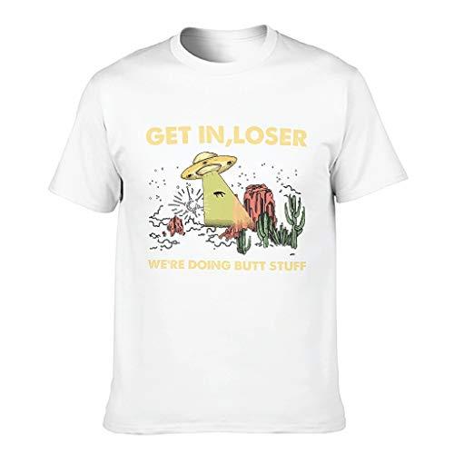 Get in Loser - Camiseta para hombre divertida sarcasmo blanco XXXXXL