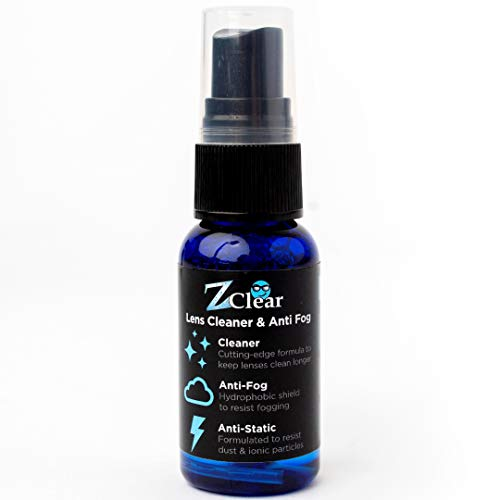 Z Clear Lens Cleaner & Anti-Fog: 1 oz Spray | Stays Cleaner for Longer - Anti-Static | Safe on All Lenses, Alcohol & Ammonia Free | All Glasses, Goggles, Optics, Masks