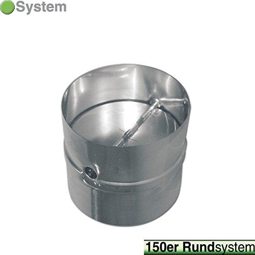 VIOKS Rückstauklappe Rückschlagklappe Einschub Verbindungsstück für Schläuche und Rohre Anschluss: 150mm für Dunstabzugshaube Klimagerät oder Trockner