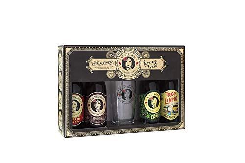 La Virgen cerveza artesana - 3 Packs Regalo de 4 botellas x 300 ml + Vaso
