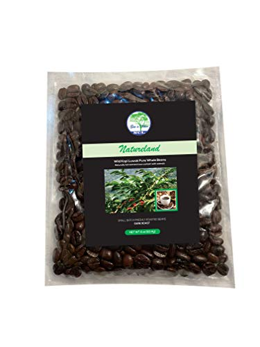 NATURELAND Specialty Roasted Coffee Beans (Wild Kopi Luwak Coffee Beans Dark Roast, 4oz) Civet Coffee Kopi Luwak Coffee Beans Sourced from the best regions of Vietnam Ethically produced - Wild Civet Cat Coffee