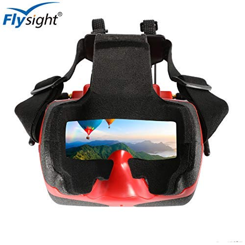 Flysight ViewOptix HD FPV Goggles with Receivers 5.8Ghz with DVR HDMI In 40CH Raceband Auto-Searching Great Starter FPV Box Goggles Headset Built in Battery with The Headplay-Licensed(SMA Ant)