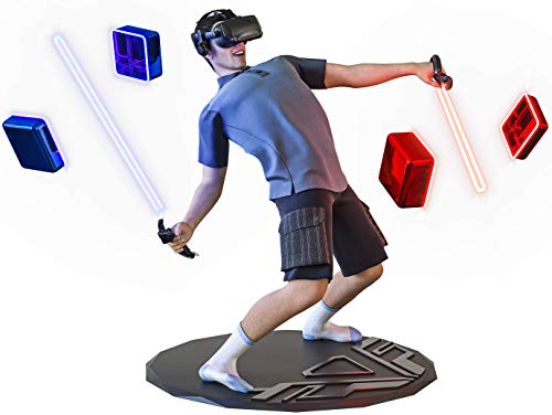 """XPACK VR Mat - 35"""" Round Anti Fatigue Mat - Virtual Reality Matt Helps Determine Direction and Position of Your Feet During Game, Prevents Players from Hitting and Breaking Objects in Surroundings"""