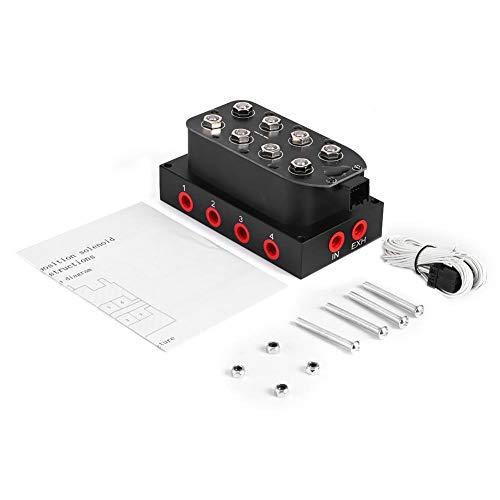 Valvola di sospensione pneumatica, universale 200PSI Collettore di sospensione pneumatica elettrovalvola blocco accessori 8 angoli