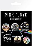 AMBROSIANA Confezione di Badge Pink Floyd, Mix, Alluminio, Multicolore, 14 x 0.3 x 10 cm