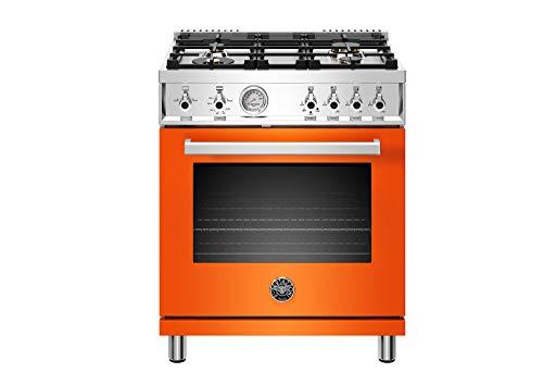 Bertazzoni PROF304GASART Professional Series Gas Range, 30', Orange