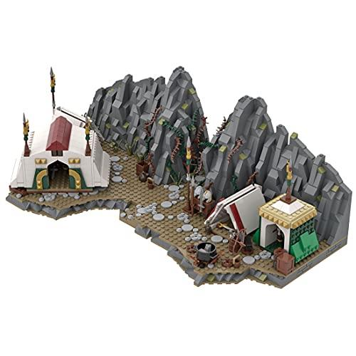 Tosbes Arquitectura modular ladrillos, modelo de campamento, edificios de bricolaje, idea de regalo para coleccionistas, 1734 piezas MOC, bloques de montaje compatibles con Lego