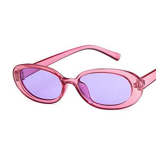 gafas de sol Gafas de Kurt Cobain Gafas Hombres Mujeres de lujo de la marca del óvalo de las gafas de sol Mujer Hombre NIRVANA Gafas de sol UV400 de Conductor (Color : Purple)