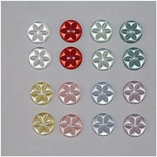 E* 80 x Boutons Basique Etoile 2 Trous Diamètre 11mm ou 14mm Mercerie Couture