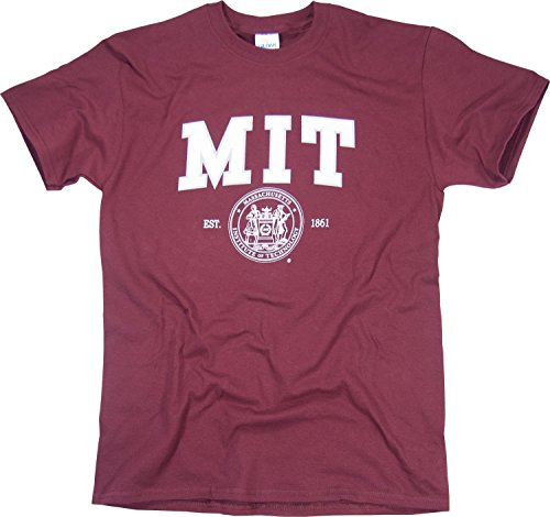 New York Fashion Police MIT T-Shirt Arched Logo Massachusetts Institute of Technology Shirt Maroon L