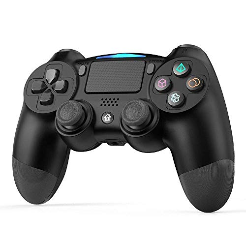 Wireless Controller per PS4, GEEKLIN Controller Di Gioco per Bluetooth, Gamepad per Playstation 4 / Playstation 3 / Joypad Touch Panel per PC con Tele