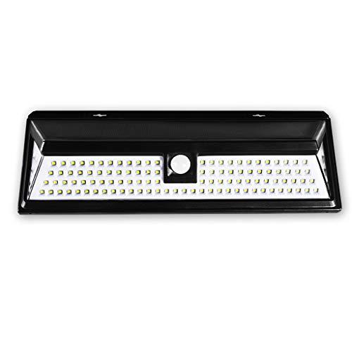 YS & VV Outdoor LED zonnelicht wandlamp 5W IP65 waterdichte wandlamp met bewegingssensor polysilicium zonnepaneel, 4400 mAh batterij, voor binnenplaatsen, tuinen, parken