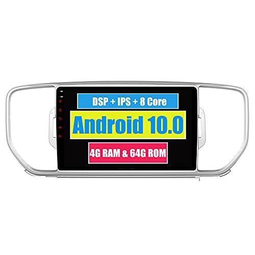 RoverOne 9 Pouces Système Android Octa Core Autoradio Lecteur GPS de Voiture pour Kia Sportage 2015 2016 avec Navigation Radio stéréo Bluetooth Mirror Link Full écran Tactile