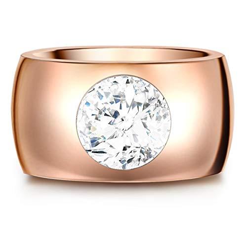 Stella Copenhagen Damen-Ring aus Edelstahl poliert verziert mit Kristallen von Swarovski®
