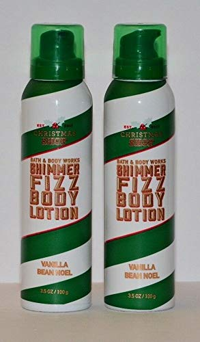 Bath and Body Works Shimmer Fizz Lotion Vanilla Bean Noel 3.5 Ounce Lot of 2 - Holiday Traditions