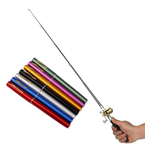 Mini Pocket Size Pen Type Fishing Rod Teleskop Angelrute Tackle