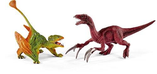 Schleich 41425 - Spielzeugfigur, Dimorphodon und Therizinosaurus, Klein