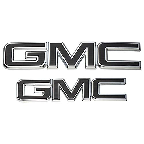 GM 84395038 Front and Rear Black Emblem Package GMC Sierra