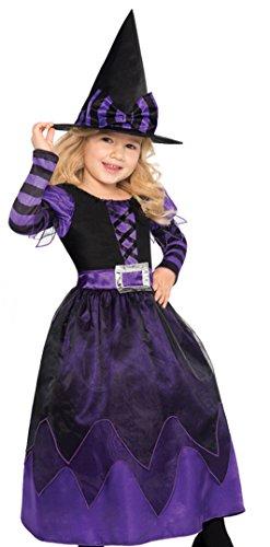 Nouveau Amscan Enfants Déguisement Halloween être Sorcière Filles Ensorceleuse sorcière Déguisement.