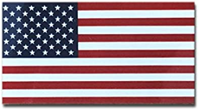 アメリカ 国旗 ステッカー ( スーツケース ・ 車 にも貼れる 防水 シール ) (S 約39mmx74mm)