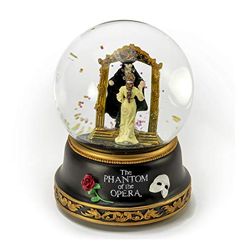 Phantom of The Opera – Phantom and Christine Mirror Scene Musical Water Globe - Many Songs to Choose - Three Coins in The Fountain