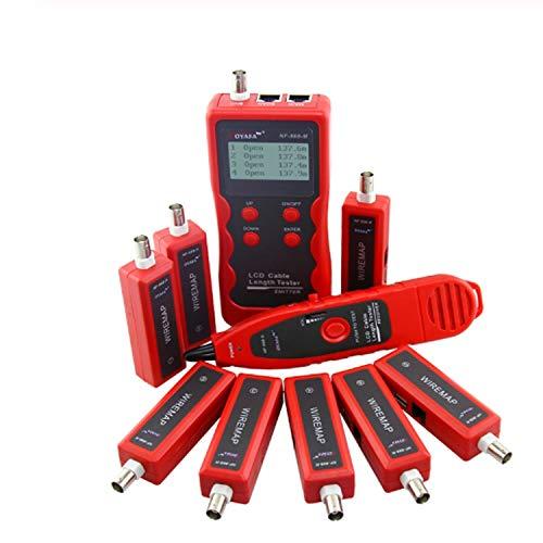 YEZIN Herramienta de Prueba de Alambre NF-868W Cable Tester Diagnóstico Tono de Red RJ45 LAN RJ11 BNC USB del teléfono del teléfono del perseguidor del Alambre del LCD Buscador de Línea