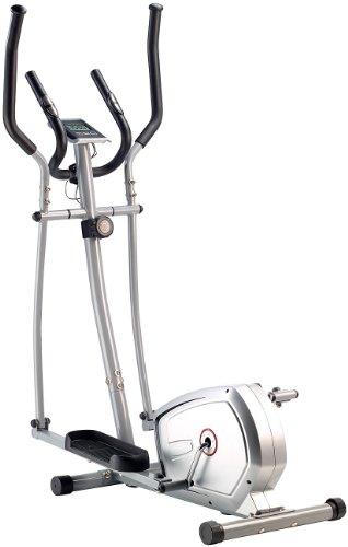 PEARL sports Stepper: Crosstrainer mit 5 kg Schwungmasse, Pulsmesser & Magnetbremse (Sportgerät)
