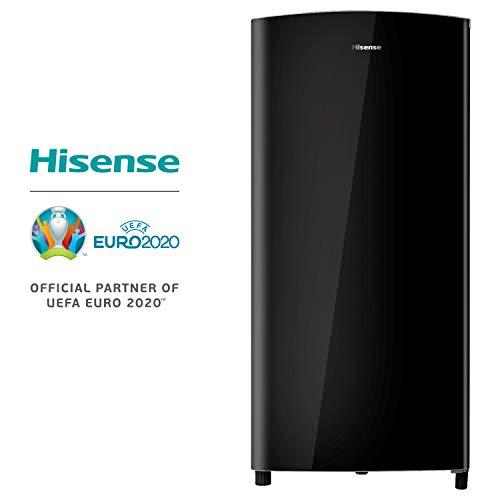Hisense RR195D4DB1 Frigorifero Monoporta con comparto Freezer 3, 150 Litri, 43 Decibel, Senza installazione, Nero