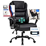 Big and Tall 500lbs Office Chair, Ergonomic Desk Chair,Wide Seat PU Leather Executive Chair with Lumbar Support,High Back Computer Chair,Swivel Task Chair for Managerial Home Heavy People Women,Black