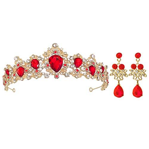 FOMIYES 1 Set de Tiara Nupcial Elegante Tocado de Novia Vintage Corona...