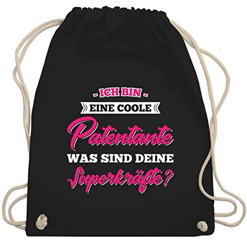 Schwester & Tante - Ich Bin Eine Coole Patentante was Sind Deine Superkräfte - Unisize - Schwarz - patentante - WM110 - Turnbeutel und Stoffbeutel aus Baumwolle