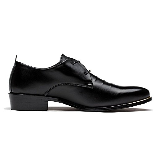 Blivener Men's Pointed Toe Classic Oxford Formal Business Dress Shoes Black US 10
