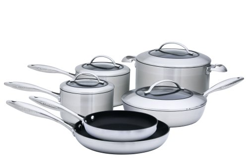 Scanpan 65100000 CTX 10-Piece Deluxe Set, Silver