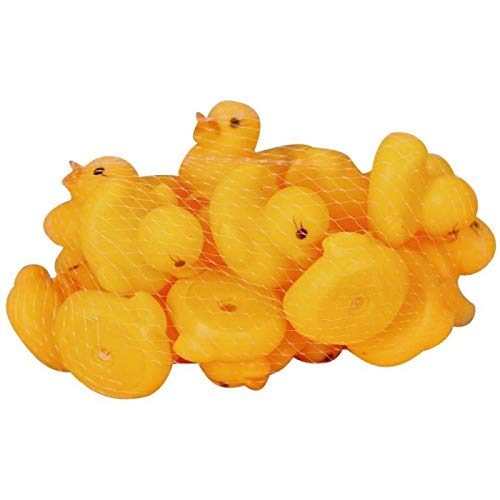 ZHANG Baby Bath Toys Mini Ducks Float Squeak Rubber Squeaky Bath Bauble Pure Natural Cute Pvc Water Floating Sound Funny