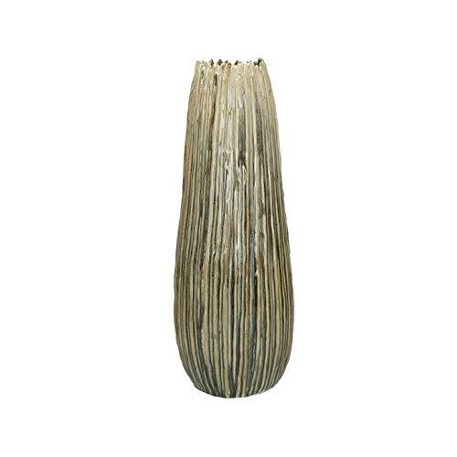 PTMD Dekorative Vase Bodenvase Ribona aus Keramik in Natural - Maße: Ø 19 x H 50 cm
