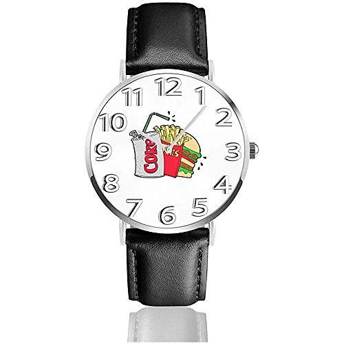 Armbanduhr Junk Food und eine Diät Cola Classic Casual Quarzuhr Business-Uhren