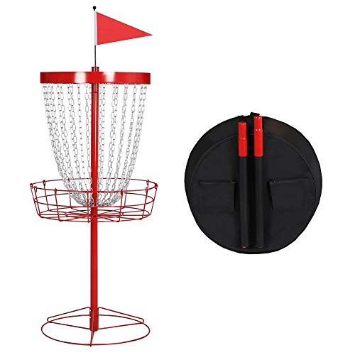 Yaheetech Pro Disc Golf Basket Target,24-Chain Portable Disc Golf Practice Basket Target Set