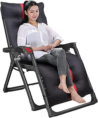 Tumbona reclinable para Patio con Silla Zero Gravity, Tumbona reclinable para Exterior de jardín, Silla reclinable para Oficina, con cojín, para Oficina, Piscina, Playa, Capacidad de Carga d