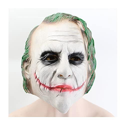 XIAOJU Máscara de Asesino de Halloween Novedad Máscara de Terror de látex Cabeza de Miedo Máscara Realista Cara para Fiesta de Halloween Carnaval Cosplay,One Size