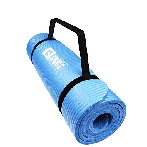 CalmaDragon 85611 Esterilla para Yoga NBR, Colchoneta Antideslizante, Ideal para Pilates, Ejercicios, Fitness, Gimnasia, Estiramientos (Azul, 183 x 60 x 1 cm)
