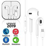 Écouteurs Intra-Auriculaires, Écouteurs avec Micro et de Volume contrôle stéréo Casquet Compatible avec pour iPhone 7, 7Plus, 8, 8 Plus, X, XR, XS(Blanc)