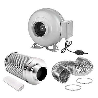 iPower 4 Inch Inline HVAC Vent Blower Fan