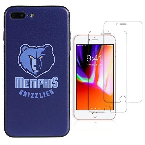 Funda para teléfono NBA - Kit de Valor Extra para iPhone 8 Plus/iPhone 7 Plus (5.5) (Memphis Grizzlies)
